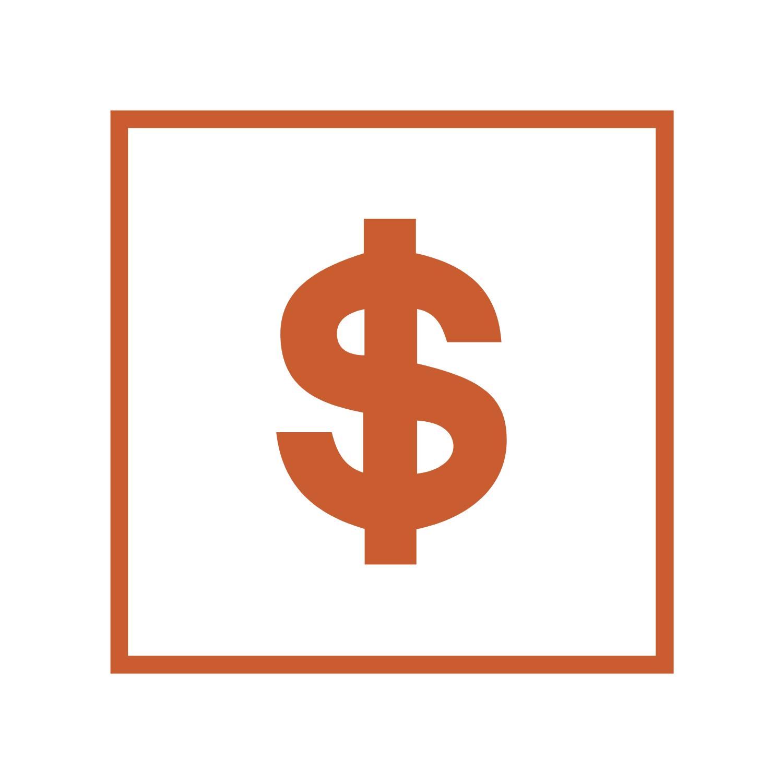 Dollar Sign in box