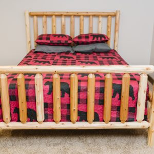 log bed, quality wood furniture, cabin furniture